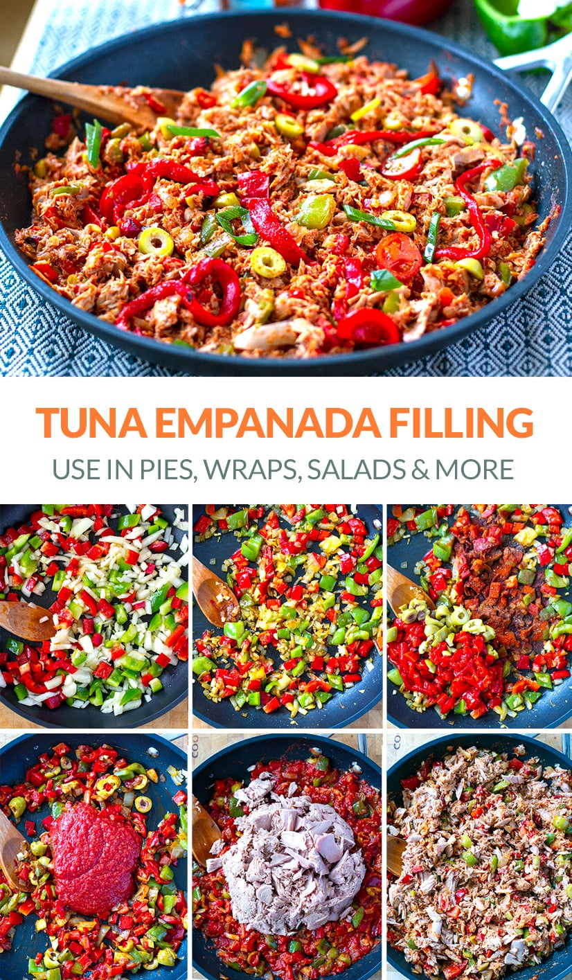 Tuna Empanada Filling With Tomatoes, Peppers & Olives