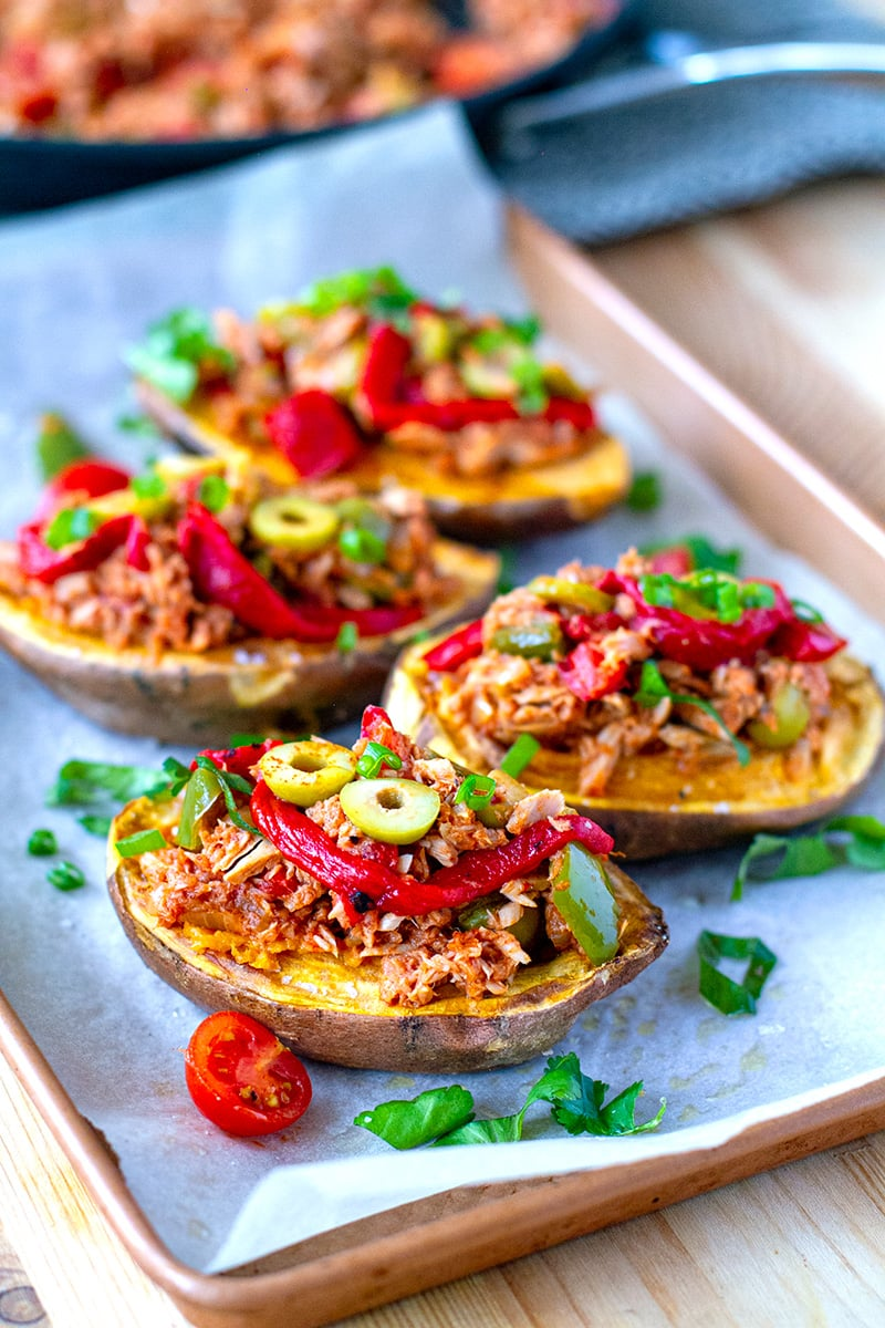 Stuffed Sweet Potatoes With Tuna Filling