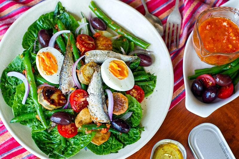 Canned Sardine Salad Nicoise