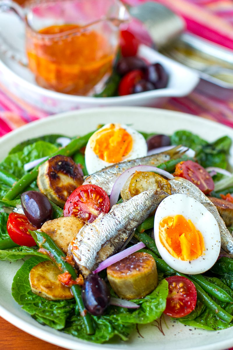 Nicoise Salad With Sardines & Sun-Dried Tomato Dressing