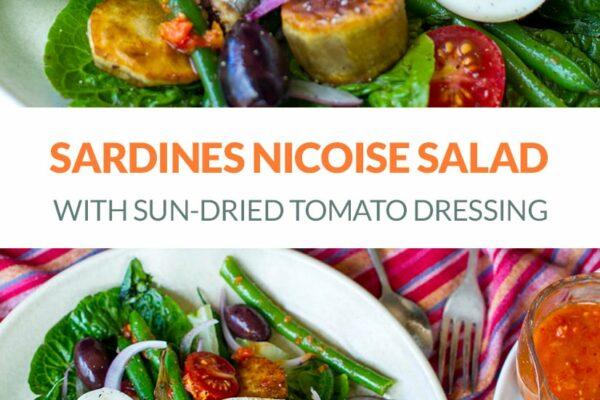 Salad Nicoise With Sardines & Sun-Dried Tomato Dressing