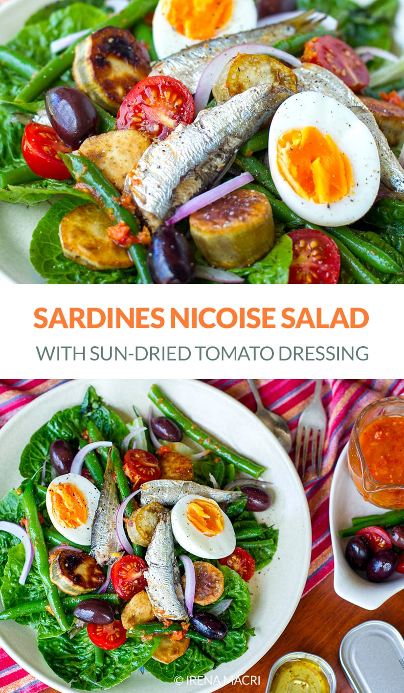 Salad Nicoise With Sardines & Sun-Dried Tomato Dressing
