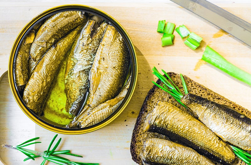 Smoked sardines sprats or shproti