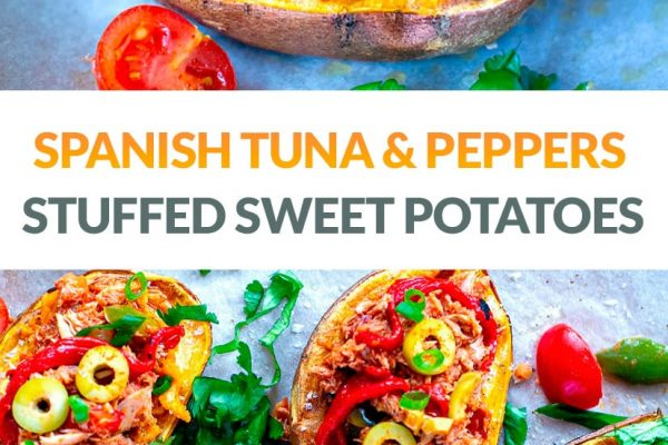 Stuffed Baked Sweet Potatoes With Spanish Tuna & Peppers