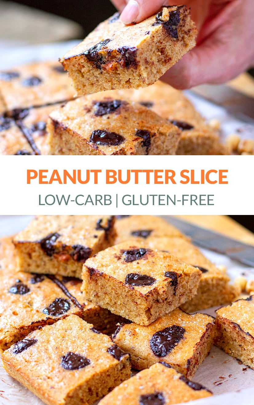Peanut Butter Slice (Low-Carb, Gluten-Free, Low-Sugar)