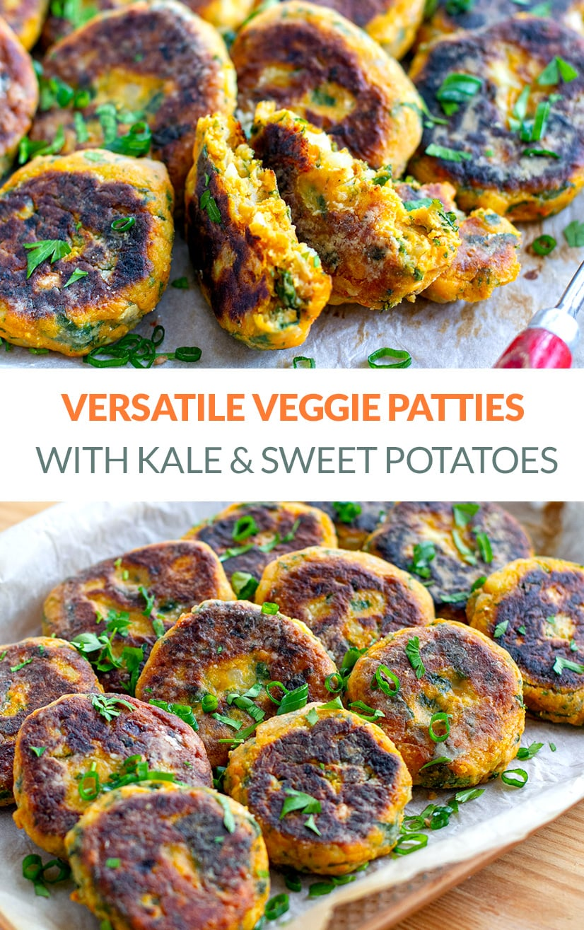 Vegetable Patties With Kale & Sweet Potatoes