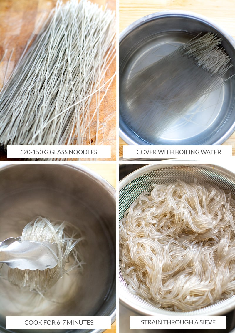 How to prepare sweet potato glass noodles