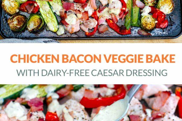 Caesar Chicken Sheet Pan Dinner (Paleo, Whole30, Keto)