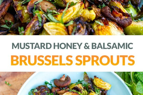 Roasted Brussels Sprouts With Honey Balsamic Dressing