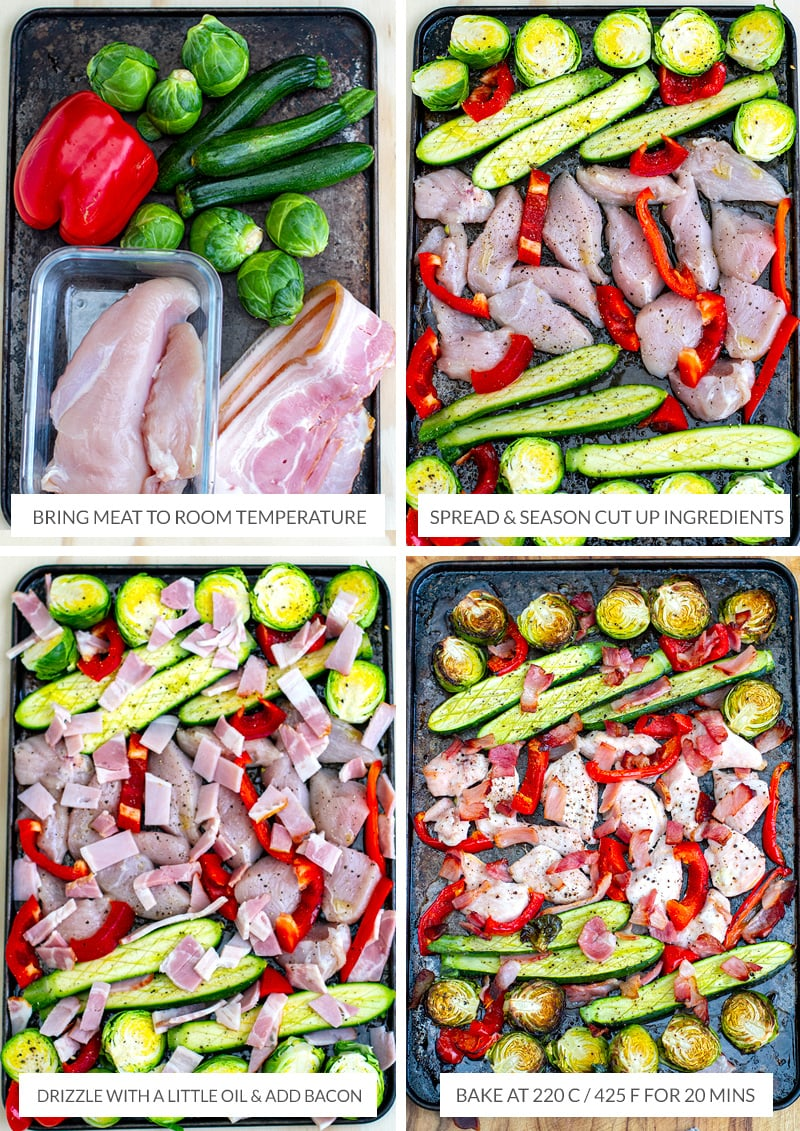 How to make chicken sheet pan dinner Step 1