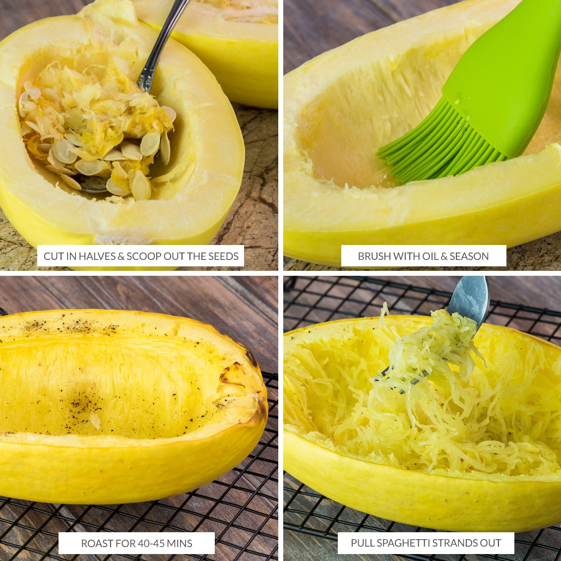 How to bake spaghetti squash for noodles