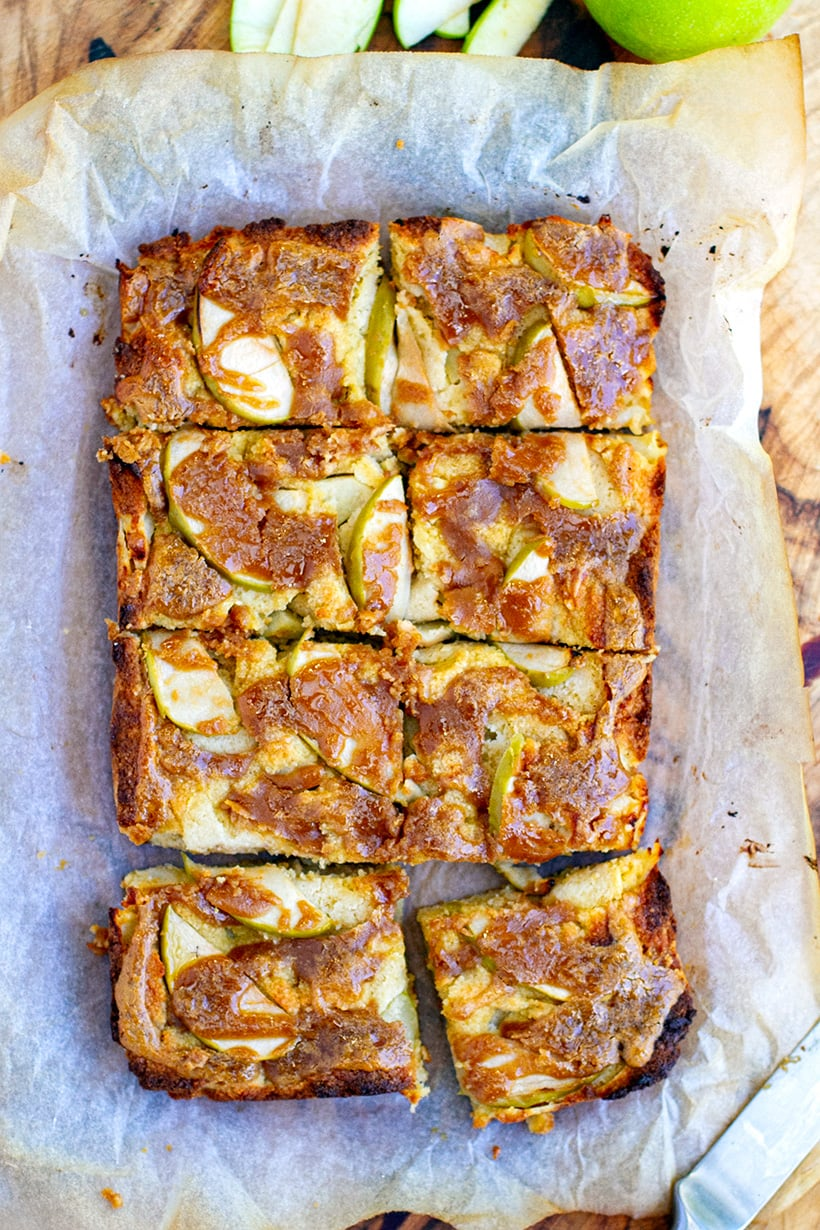 Healthy Apple Slice With Nut Butter Maple Drizzle