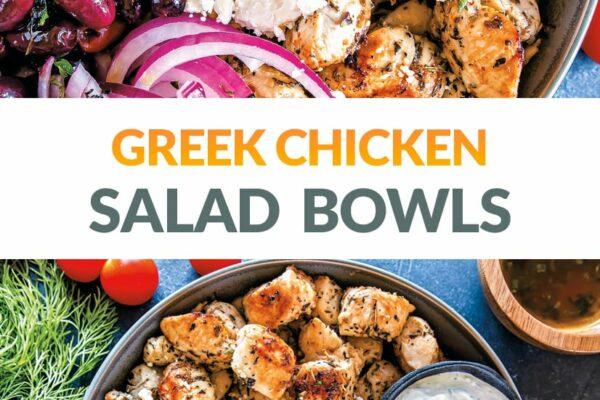 Greek Chicken Salad Bowls (Keto, Gluten-Free)