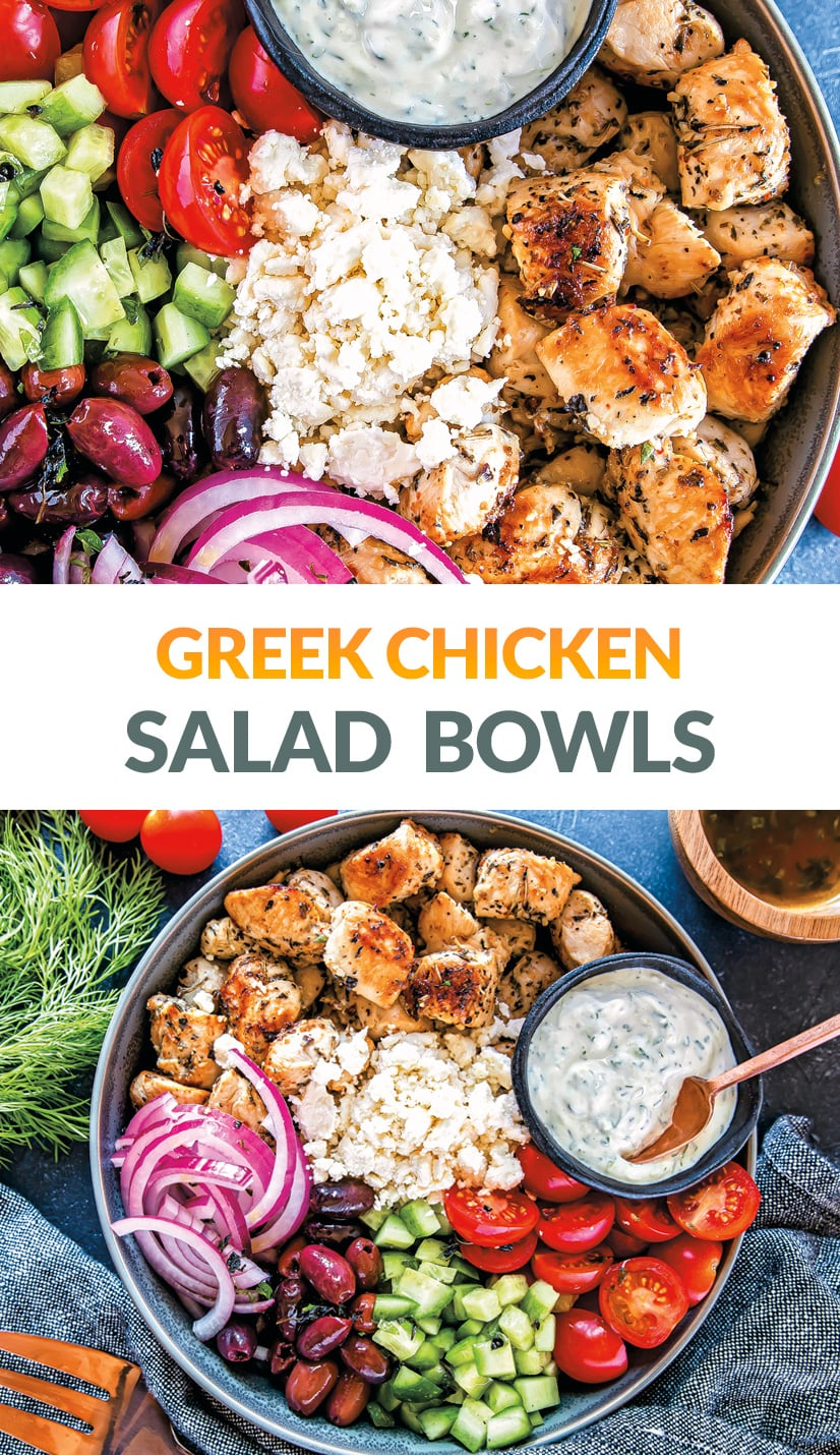 Greek Chicken Salad Bowls (Keto, Gluten-Free)