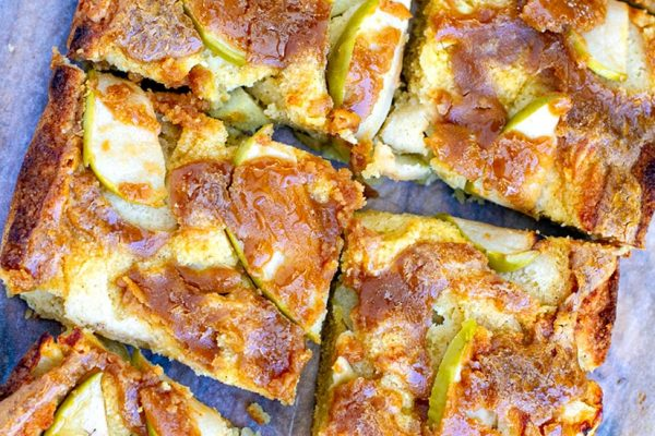Apple Slice With Nut Butter Maple Drizzle