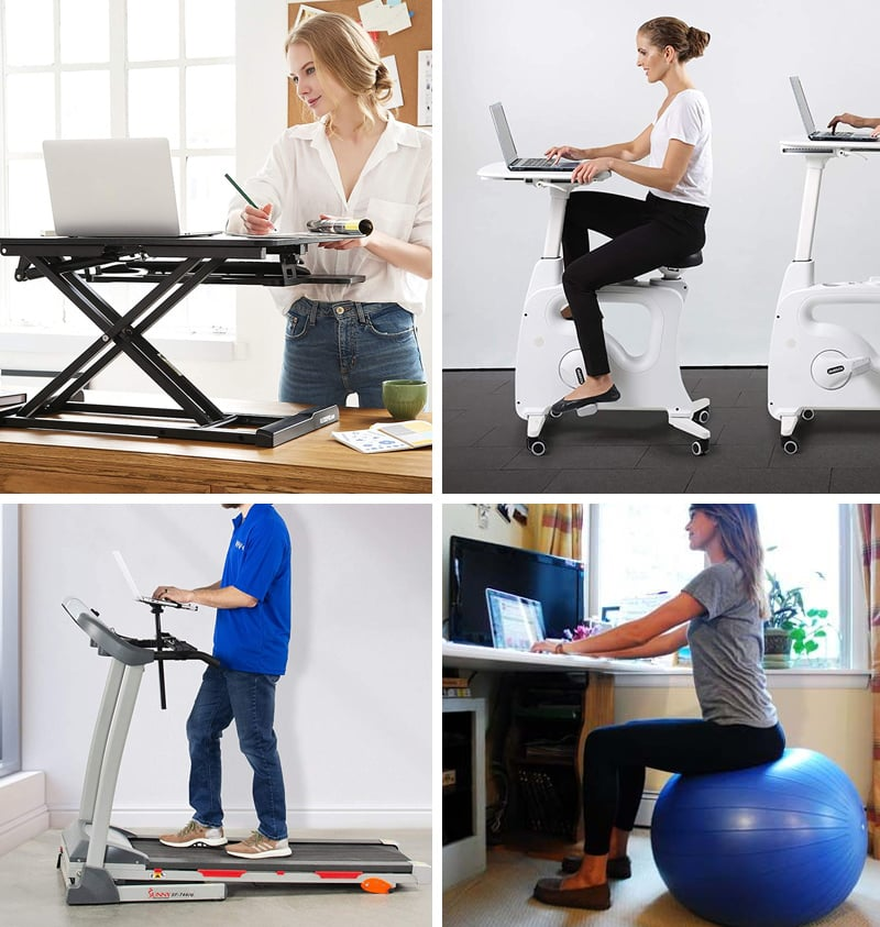 Exercise desk and standing desk for working from home