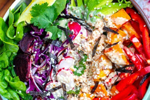 Healthy Power Bowl Rainbow Salad