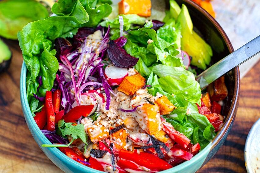 Vegetable Power Bowl Salad