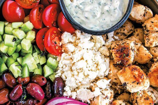 Keto Greek Chicken Salad Bowls