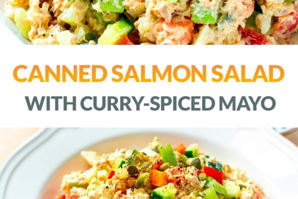 Canned Salmon Salad With Curry-Spiced Mayo Dressing