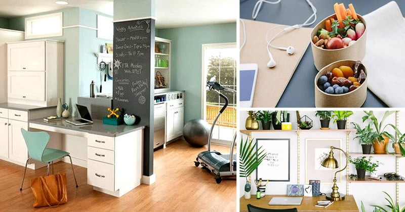 Healthy Work-From-Home Office Inspiration Ideas