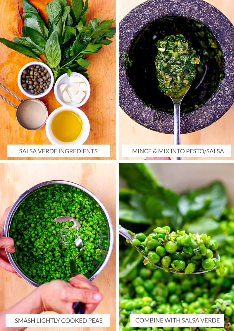How to make salsa verde peas