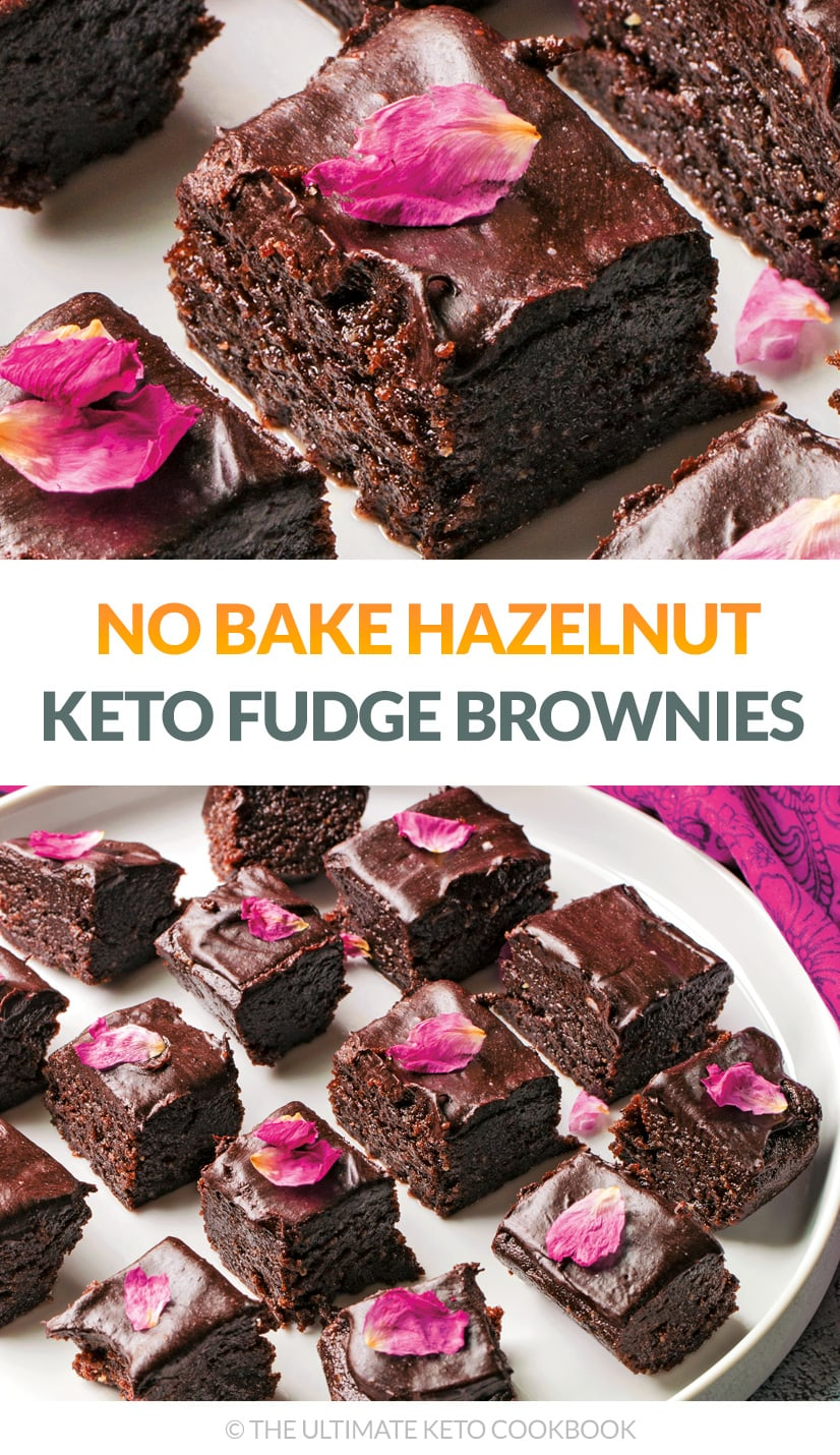 No-Bake Hazelnut Keto Fudge Brownies