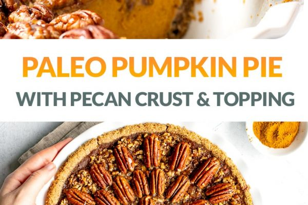 Pumpkin Pecan Pie (Gluten-Free, Paleo, Low-Sugar)