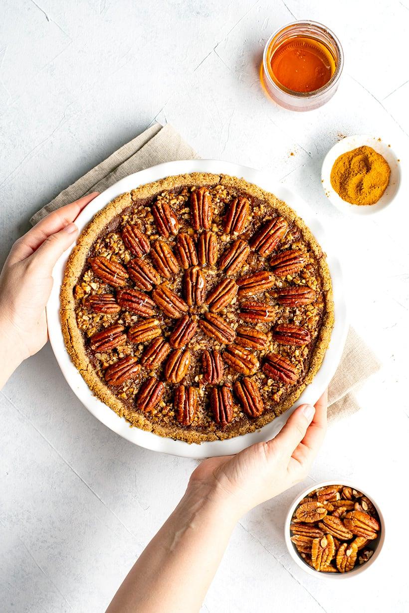 Pecan Pumpkin Pie (Gluten-Free, Paleo, Dairy-Free)