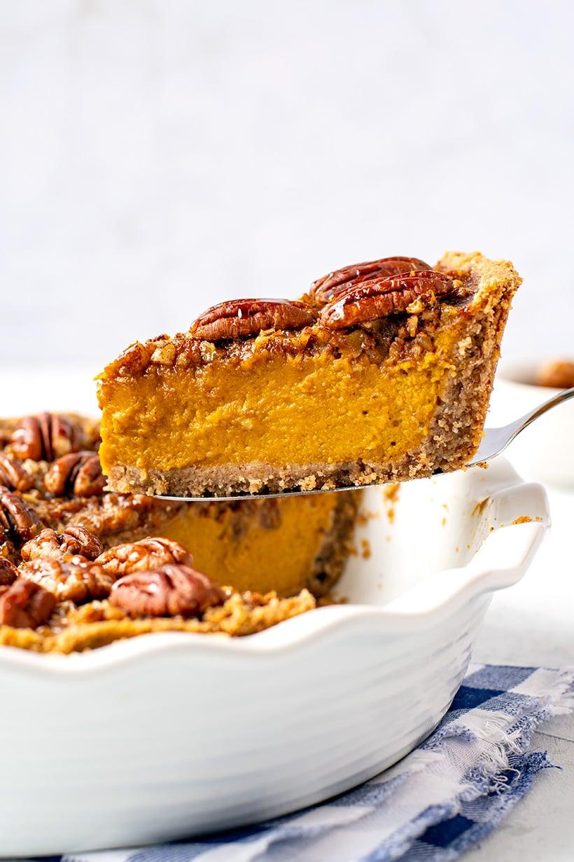 Pumpkin Pecan Pie Recipe (Gluten-Free, Paleo, Dairy-Free)
