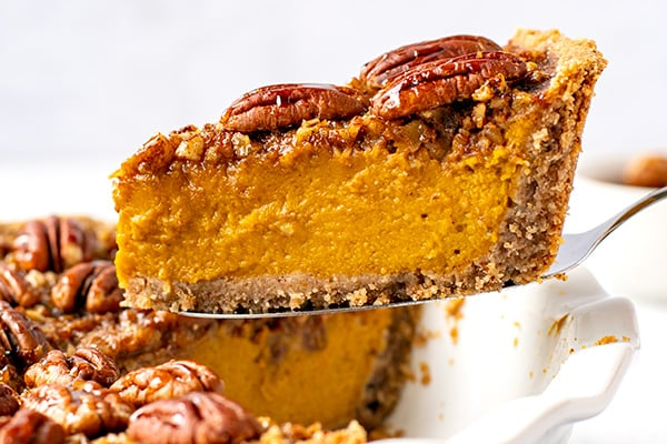Pecan Pumpkin Pie (Paleo, Gluten-Free, Healthy)