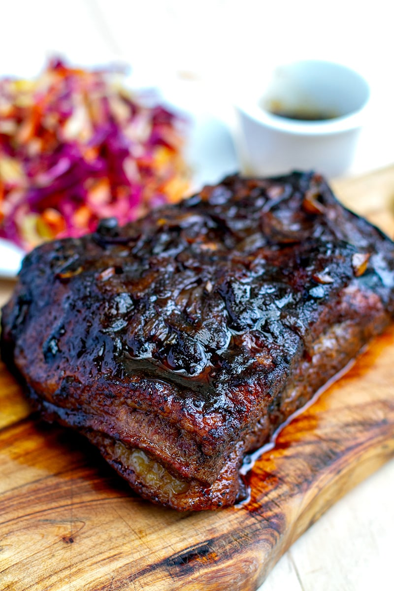 Slow-roasted beef brisket with caramelised reduction