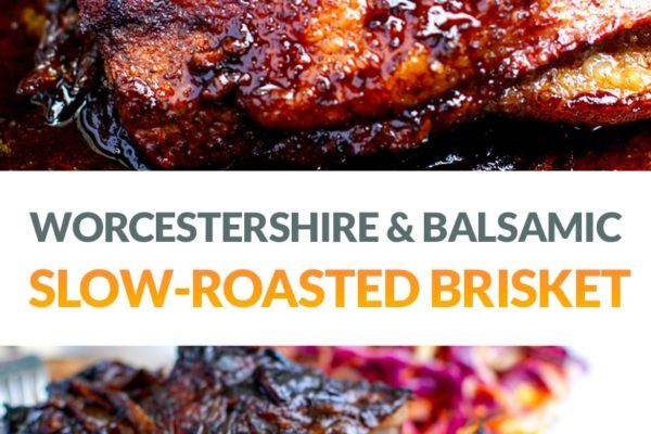 Oven-Cooked Beef Brisket With Worcestershire & Balsamic Reduction