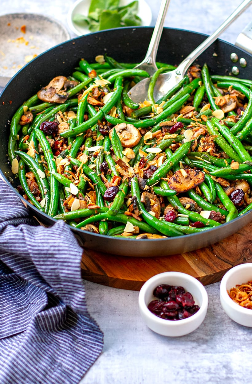 Green Beans With Almonds Bacon & Mushrooms Recipe