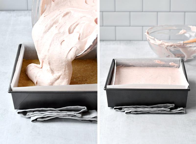 How to make cheesecake bars no bake recipe
