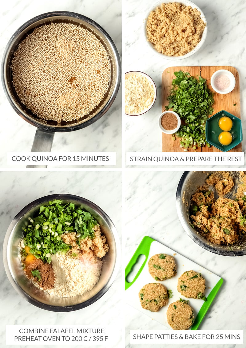How to make quinoa falafels gluten-free