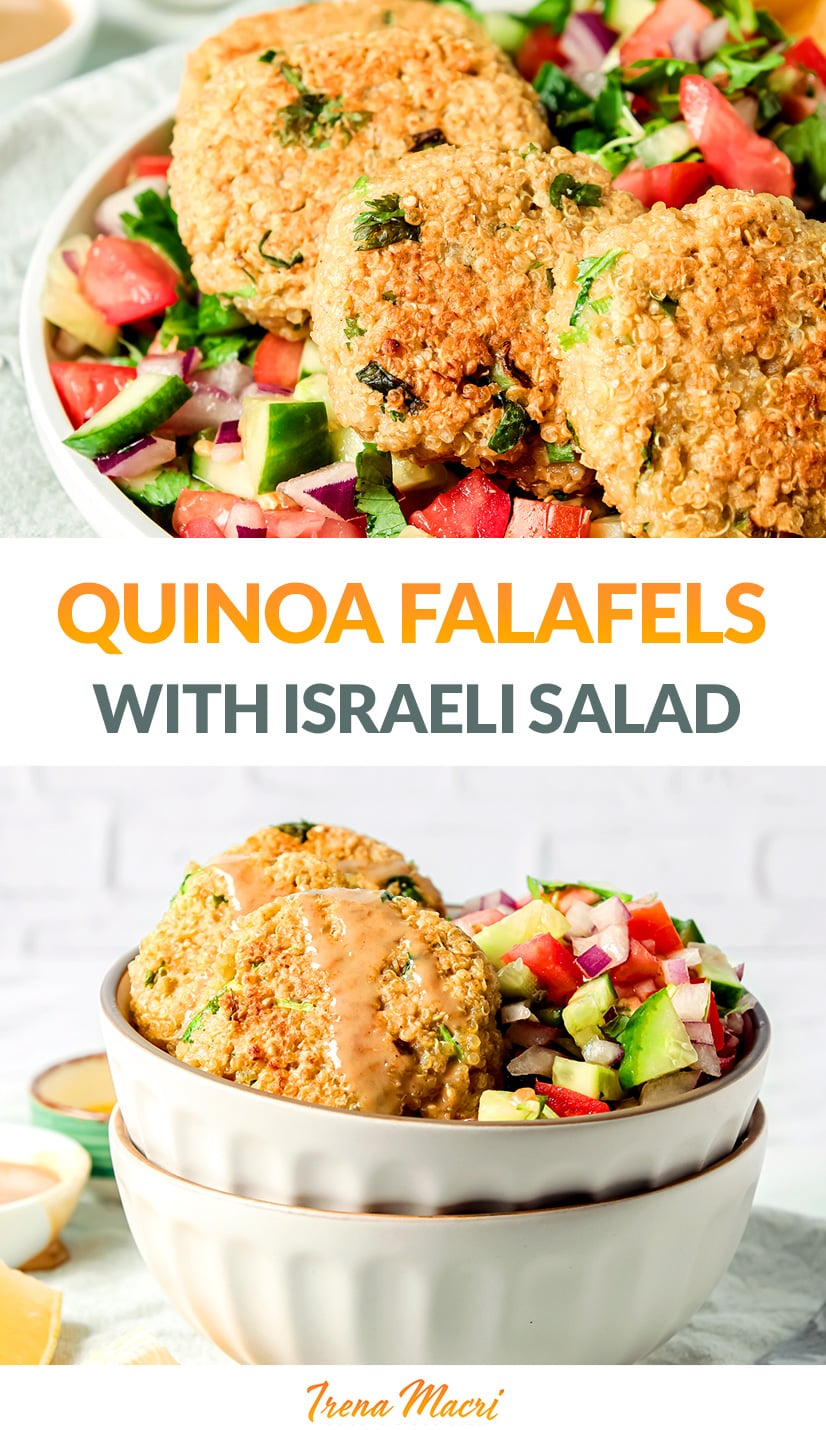 Quinoa Falafels With Israeli Salad Recipe