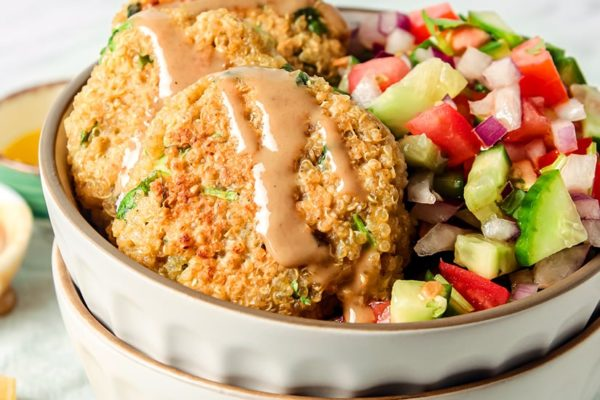 Quinoa Falafels With Israeli Salad Recipe