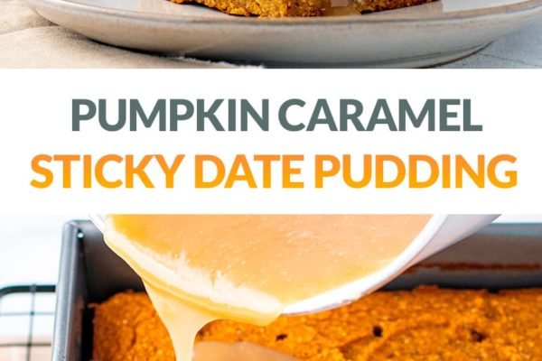 Sticky Date Pudding Slice With Pumpkin (Healthy, Gluten-Free, Paleo, Dairy-Free)