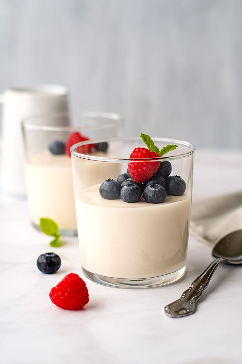 Coconut Yogurt Panna Cotta (Dairy-Free, Low-Carb)