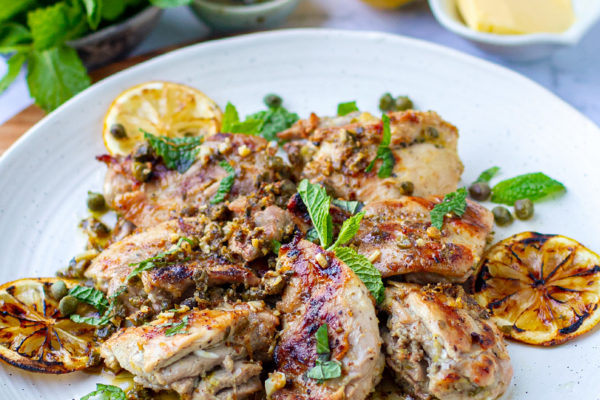 Healthy Grilled Chicken Piccata (Gluten-Free, Keto, Whole30)