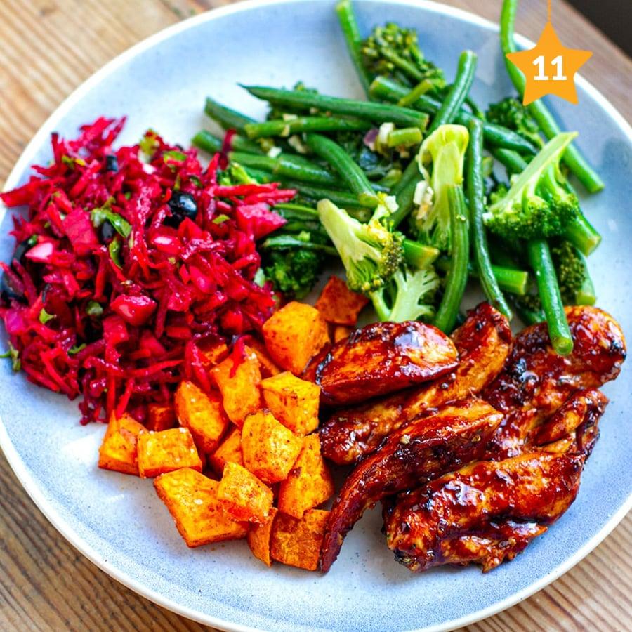Rainbow chicken dinner