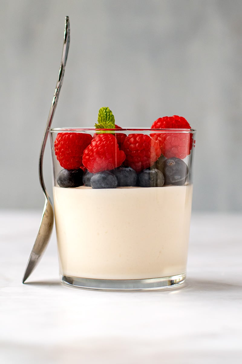 Vanilla Panna Cotta With Coconut Yogurt