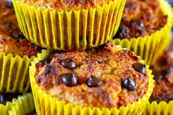 Chocolate Chip Banana Muffins (Paleo, Gluten-Free)