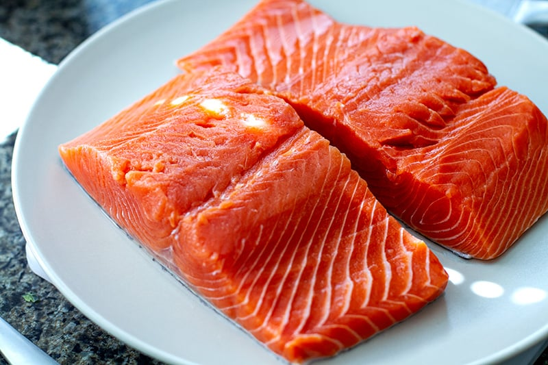 Wild salmon fillets are best