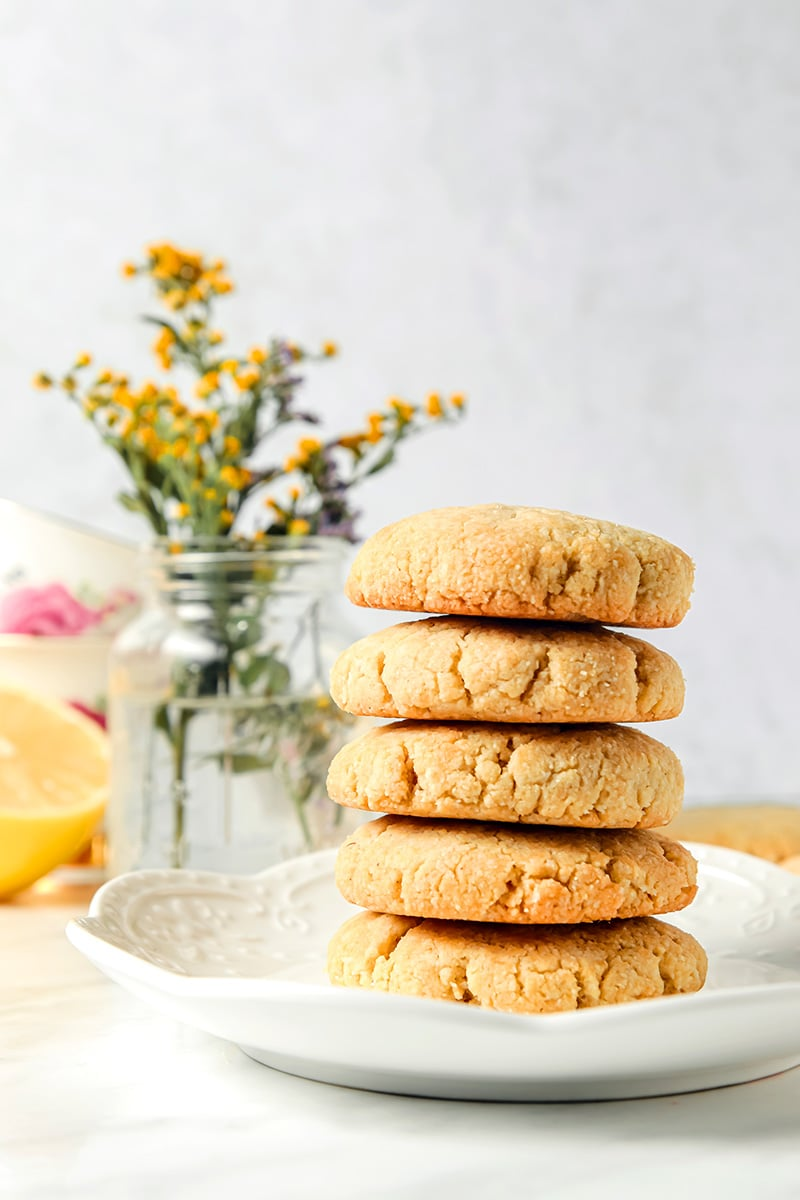 Low Carb Gluten Free Lemon Cookies Shortbread