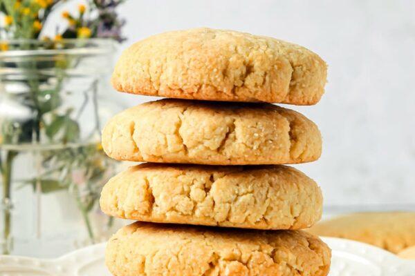 Healthy Shortbread Lemon Cookies