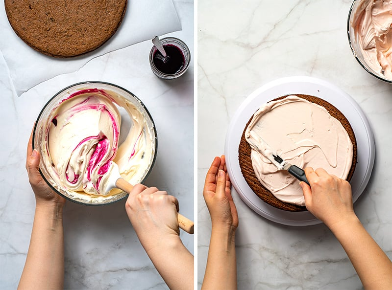 Low-Carb Pink Cream Cheese Frosting