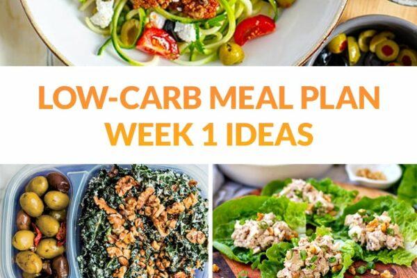 Low-Carb Meal Plan Ideas Week 1 (Breakfast, Lunch, Dinner & Snacks)