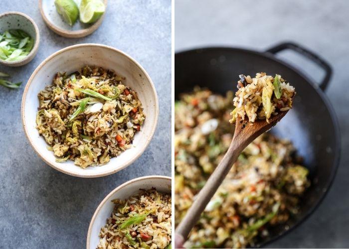 Vegetarian cabbage fried rice